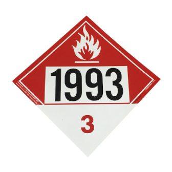 1993 placard